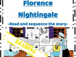 Florence Nightingale life story reading task - Read & Sequence cut and paste