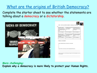 History of British Democracy: British Values