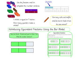 Introducing Equivalent Fractions Using the Bar Model