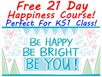 FREE KS1 21 Day Happy Kids Course - Makes Children Happier!