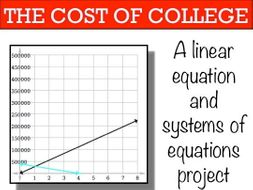 Linear Equations System of Equations: Cost of College Project