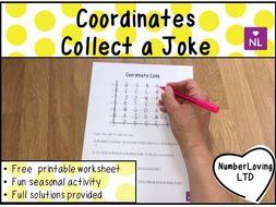 Coordinates: Coordinate Code (Collect a Joke Worksheet)