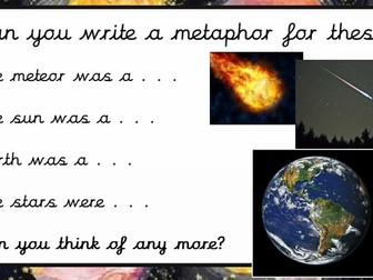 Space Poetry Lesson Plan and Powerpoint