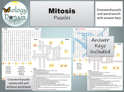 Mitosis Crossword and Word Search | Teaching Resources