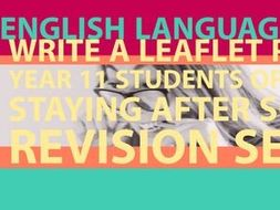 Detention Tasks: English Language Section B
