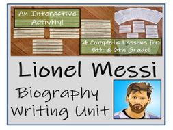 UKS2 Literacy - Lionel Messi Biography Writing Unit