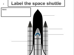 KS1 & 2 Label the space shuttle, label the space rocket ...