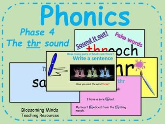 Phonics phase 4 - Consonant clusters - The 'thr' sound