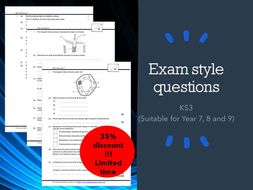 Exam style questions : Science (KS3_IGCSE) with answer script