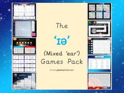 The mixed '' (ear) Phonics Games Pack