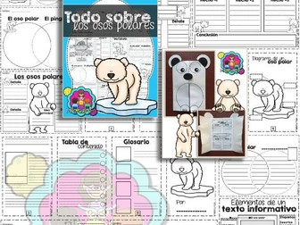 Todo sobre los osos polares: A Nonfiction Resource Pack