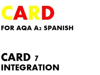 SPEAKING CARD 7 for AQA A2 SPANISH