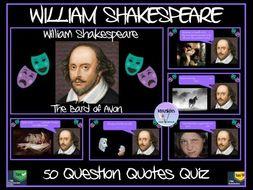 William Shakespeare: Quotes Quiz