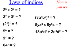 Indices Higher level revision
