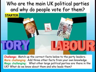 General Elections + UK Political Parties
