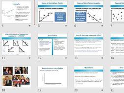 CORRELATIONS AQA Psychology research methods
