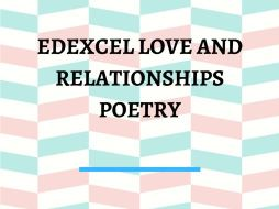 Edexcel Love and Relationships Poetry Revision Worksheet