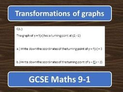 GCSE Maths 9-1 Transformations of graphs