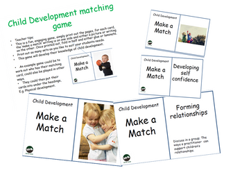 Child development Matching game