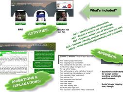 AQA New Spec GCSE English Language - FULL intro/revise Paper 1 WALKTHROUGH - Bird Box Extract