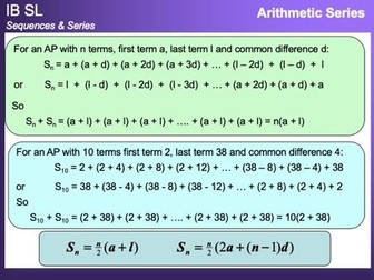 IB Mathematics SL - Sequences and Series