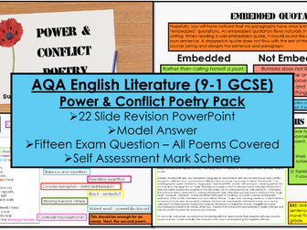 AQA Power & Conflict Poetry Pack