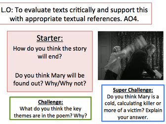 Lamb to the Slaughter, Roald Dahl - 3 lessons teaching AQA Language Paper 1 skills. Story included.