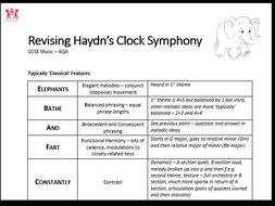 AQA GCSE Music - Haydn Clock Symphony Revision