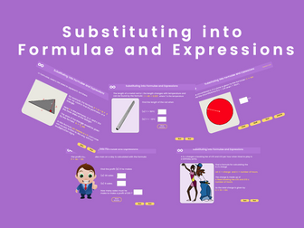 Substituting into Formulae and Expressions - GCSE