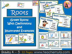 Greek Root Cards - Illustrated Definitions and Examples