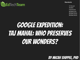 Taj Mahal: Who preserves our Wonders? #GoogleExpedition