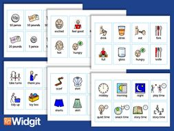Early Years Flashcards with Widgit Symbols