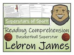 UKS2 Literacy - LeBron James Reading Comprehension Activity
