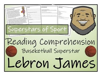 UKS2 Literacy - LeBron James Reading Comprehension Activity