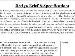 Design Brief Specification Teaching Resources