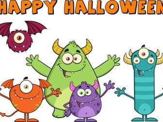 Halloween Cards to Colour, cut and Match