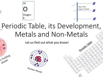 Atoms and Periodic Table 9 to 1 Exam Style Questions and