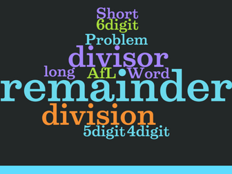 UKS2 (Year 5 and Year 6) - Short and Long division with remainders