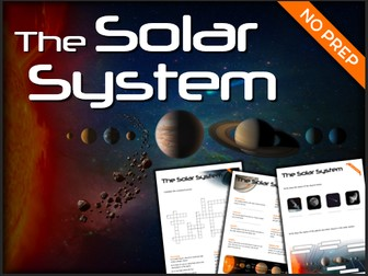 The Solar System - Puzzles & Glossary