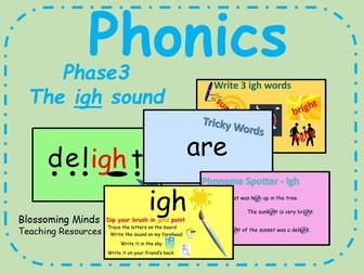 Phonics Phase 3 - The 'igh' sound