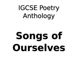 CIE Poetry Anthology Songs of Ourselves - Student Booklet