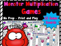 Monster Multiplication Games for Factors 1-10