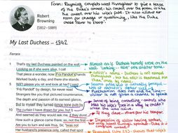 my last duchess poem essay