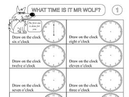 Primary Numeracy Worksheet Pack: Showing the Time by beckystoke ...