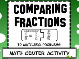 Comparing Fractions Math Center Activity
