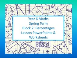 White Rose Mastery Maths: Individual lesson worksheets and PowerPoints Year 6 Spring Block 2 Percentages