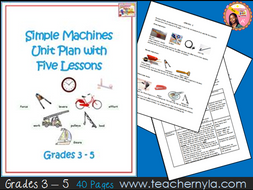 Simple Machines Unit Plan with Five Lessons