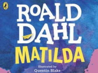 Matilda by Roald Dahl - workbook (differentiated)