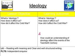 Ideology - An introduction to the Cold War - Full Lesson