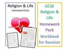 GCSE RS Religion and Life Homework Pack - Revision Pack